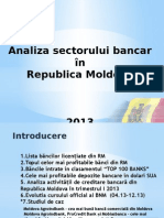 Analiza sectorului bancar