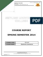Course Report-cis 413