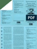Programa Universidad Verano Jornadas Sobre Democracia en España. FE - La Falange. Julio 2002. José María Permuy.