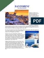 Santorini the Greek Paradise