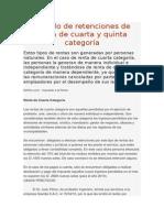 Cálculo de Retenciones de Renta de Cuarta y Quinta Categoría