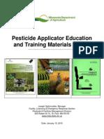MDA Legislative Pesticide Applicator Training Reportfinal2015