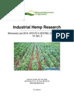 MDA Legislative Report_Industrial Hemp Research_1