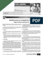 Modificaciones Legislacion Laboral 2015