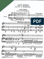 3rd Symphony - Alto Solo