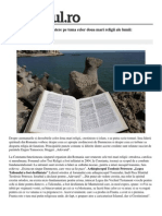 Locale Constanta Biblia Versus Coran Dezbatere Tema Celor Doua Mari Religii Lumii Crestinismul Islamul