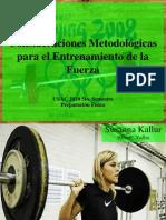 consideraciones metodolgicas para el entrenamiento de la fuerza