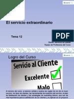 Tema 12 El Servicio Extraordinario