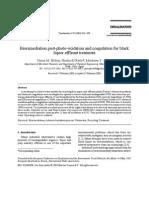 2003_S.M.helmy_Bioremediation Post-photo-oxidation and Coagulation for Black Liquor Effleunt Treatment