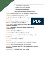 Diccionario de Arcaismos