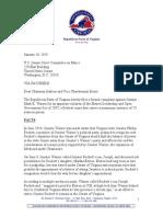 Mullins Letter to Senate Ethics