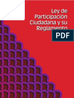 Ley de Participacion Ciudadana y Su Reglamento