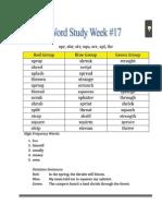 week 17 spelling