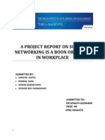 60797508 a Project Report on Social Networking is a Boon or a Bane in Workplace