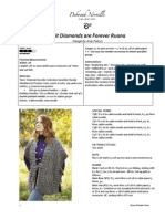 Knit Diamonds Are Forever Ruana Pattern
