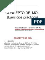 6-6 Concepto de Mol.ejercicios
