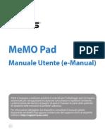 Manuale d'uso del Tablet Memopad asus