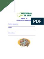 Manual de Matemáticas Financieras