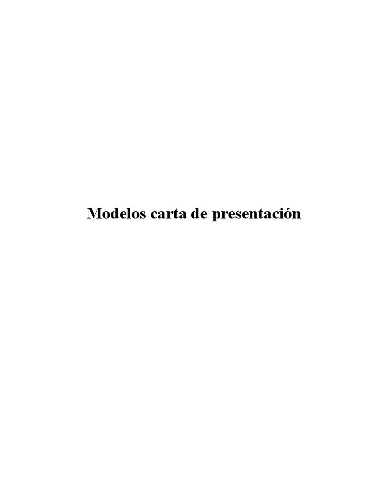 carta de presentacion y cv