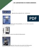 Equipos de Laboratorio de Hidrocarburos Basicos