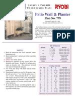Planter Patio Wall Planter
