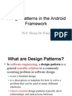 Design Patterns in the Android Framework