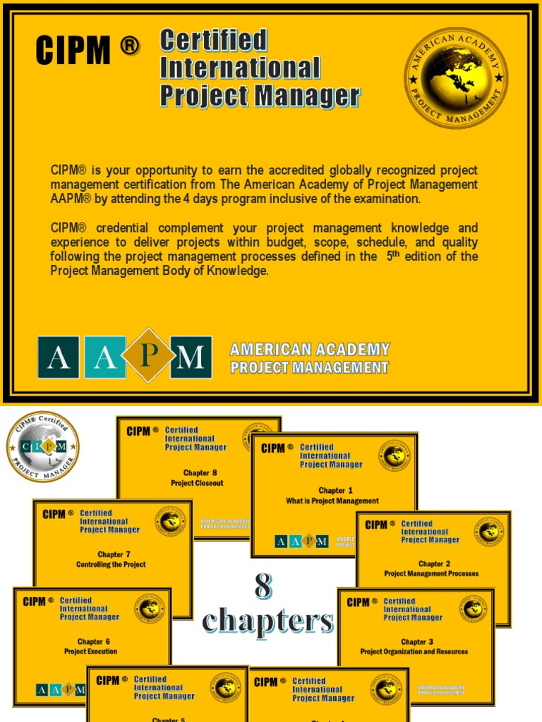 Certified International Project Manager Professional Certification