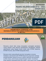 Presentation by Aceh Government - Proposed Aceh Spatial Plan 2012 - 2032