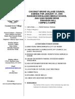Coconut Grove Village Council January Agenda