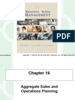 Aggregate and Sales Planning