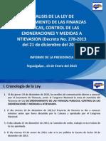 Analisis Del Decreto 278-2013 Realizado Por El COHEP (PAQUETAZO) (1)