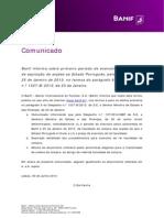 Comunicado Banco Saúde