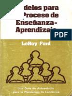 Leroy Ford Modelos Para El Proceso de Ensenanza-Aprendizaje x Eltropical