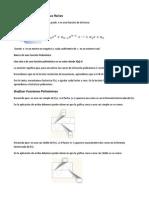 Funciones Polinómicas y Sus Raíces