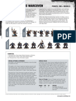 m1180921 Chaos Space Marines Datasheet - Thousand Sons Warcoven