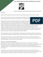 Theory Behind Risk Management Article written by James Vanderberg, Luma Group Hong Kong