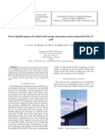 Power Quality Impact of a Small Wind Systems