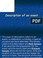 Description of an Event