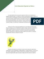 Historia de La Educación Especial en México