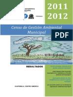 Censo de Gestion Ambiental Municipal 2011-2012, Fuente SEN, InE