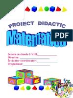 proiect didactic la matematica,cl 3