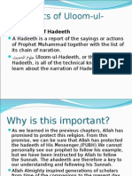 The Basics of Uloom-ul-Hadeeth Grade 112