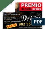 PREMIO DE KADA PEDIDO