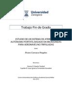 Estudio de un sistema de aterrizaje autónomo portátil basado en microondas para aeronaves no tripuladas (TFG)