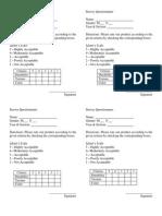 Survey Questionnaire2