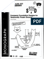 European Foundation Design for Seasonally Frozen Ground