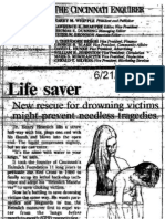 Cincinnati Enquirer editorial recommends performing Heimlich maneuver on drowning victims, 6/21/93
