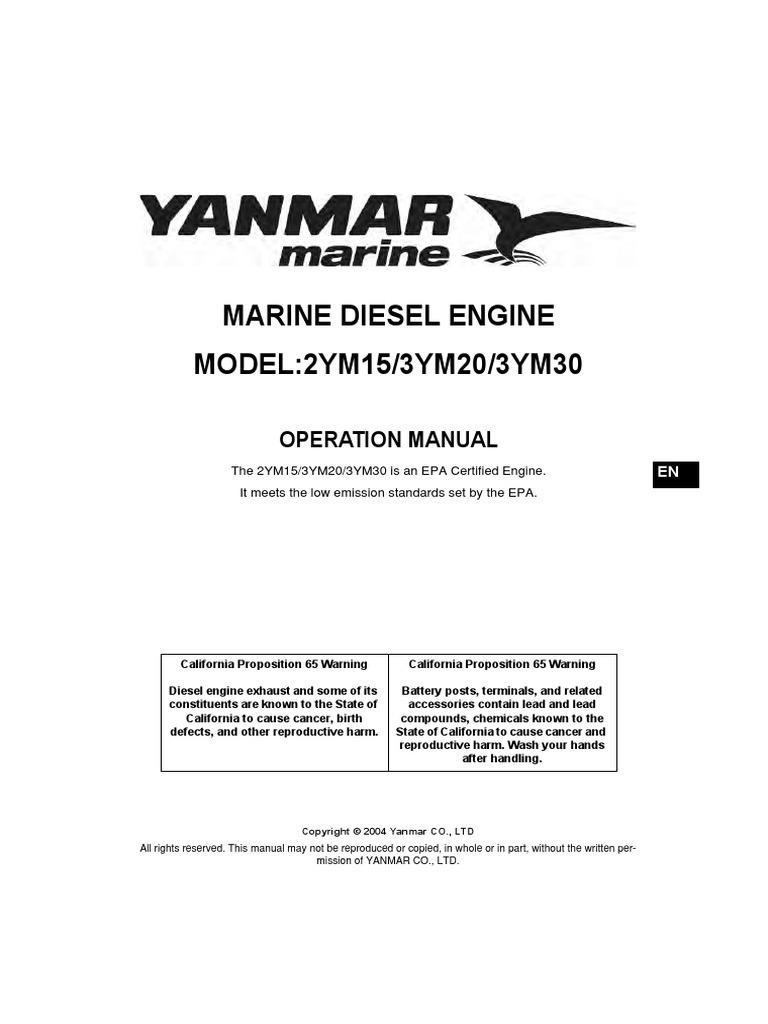 Yanmar Motor Oil Engines 2gm Engine Wiring Diagram