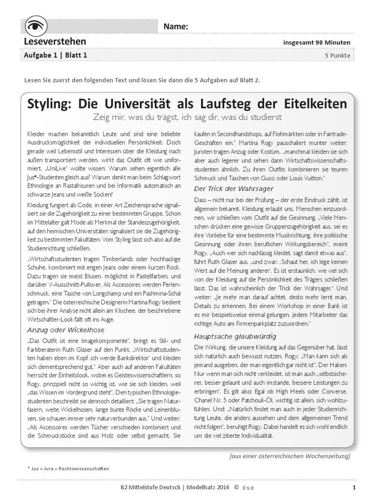 ösd Sprachprüfung B2