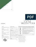 Pioneer VSX-924-K Manual EN
